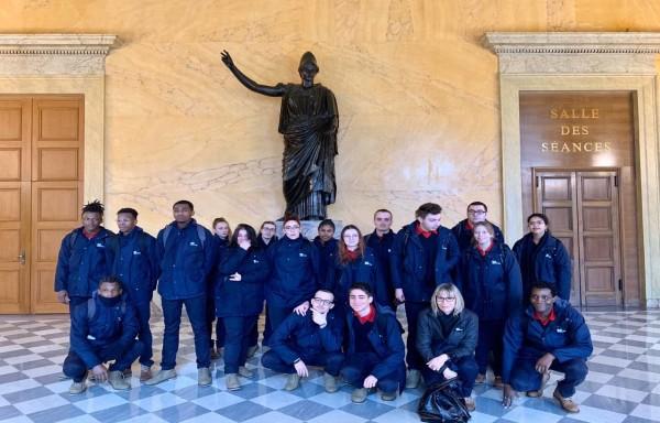 Visite de l'EPIDE Langres à l'Assemblée nationale