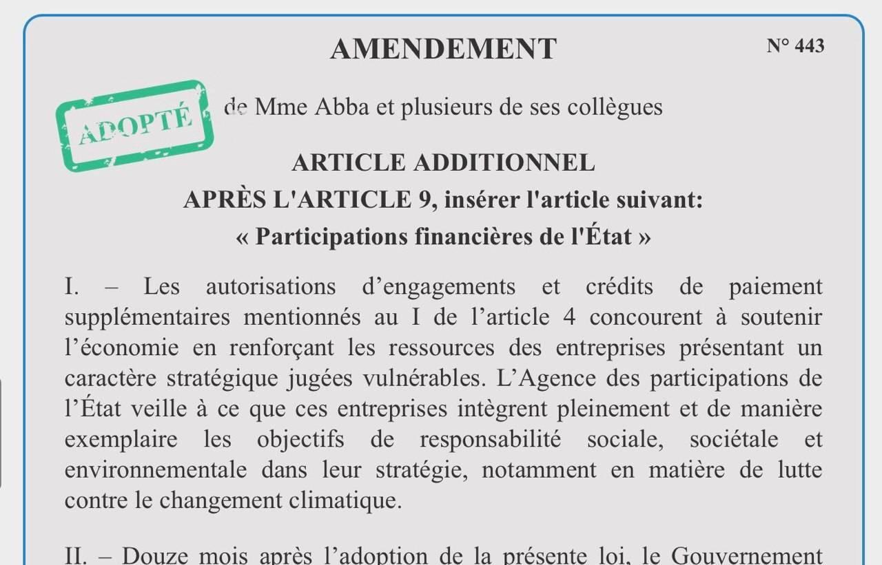 Le soutien aux entreprises stratégiques doit s'accompagner d'exigences écologiques