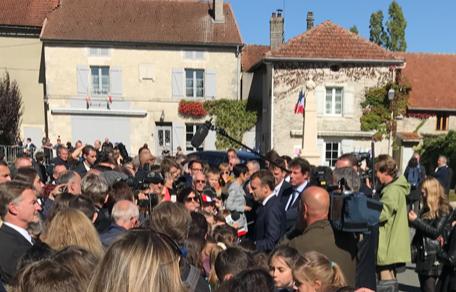 Emmanuel Macron à Colombey pour le 60ème anniversaire de la Constitution