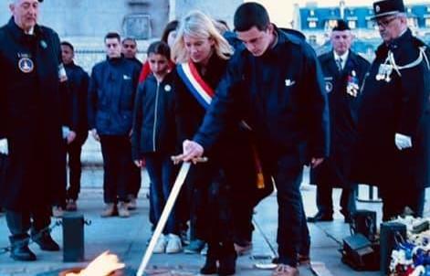 Ravivage de la Flamme du Souvenir en compagnie de l'EPIDE de Langres