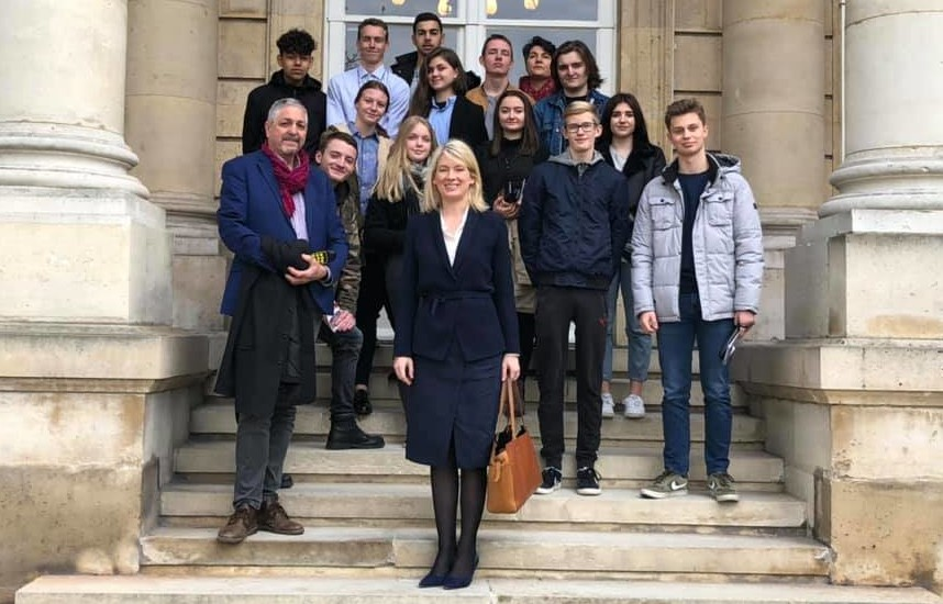 Visite de l'Assemblée nationale avec les lycéens chaumontais